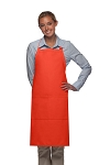 Style 220 High Quality Professional Center-Divided Pocket Butcher Apron - Orange