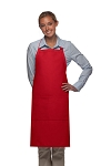 Style 220 High Quality Professional Center-Divided Pocket Butcher Apron - Red