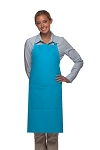 Style 220 High Quality Professional Center-Divided Pocket Butcher Apron - Turquoise
