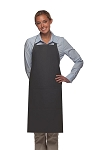 Style 220 High Quality Professional Center-Divided Pocket Butcher Apron - Charcoal Gray