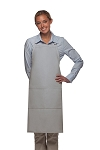 Style 220 High Quality Professional Center-Divided Pocket Butcher Apron - Silver Gray