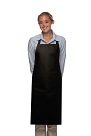 Style 220NP High Quality Professional Large No Pocket Bib Aprons - Black