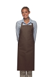 Style 220NP High Quality Professional Large No Pocket Bib Aprons - Brown