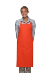 Style 220NP High Quality Professional Large No Pocket Bib Aprons - Orange