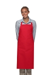 Style 220NP High Quality Professional Large No Pocket Bib Aprons - Red