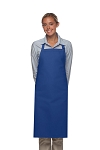 Style 220NP High Quality Professional Large No Pocket Bib Aprons - Royal Blue
