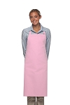 Style 220NP High Quality Professional Large No Pocket Bib Aprons - Pink