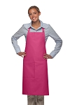 Style 221 High Quality Professional One Pocket Butcher Apron - Hot Pink