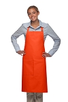 Style 221 High Quality Professional One Pocket Butcher Apron - Orange