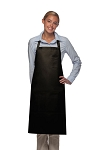 Style 224 Three Pocket Butcher Apron w/ Pencil Pocket - Black