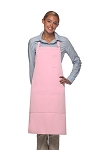 Style 224 Three Pocket Butcher Apron w/ Pencil Pocket - Pink