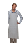 Style 224 Three Pocket Butcher Apron w/ Pencil Pocket - Silver Gray