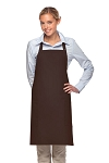Style 230 Professional Two Patch Pocket Bib Apron - Brown