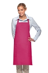 Style 230 Professional Two Patch Pocket Bib Apron - Hot Pink