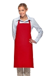 Style 230 Professional Two Patch Pocket Bib Apron - Red