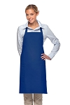Style 230 Professional Two Patch Pocket Bib Apron - Royal Blue