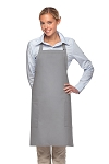 Style 230 Professional Two Patch Pocket Bib Apron - Silver Gray
