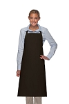 Style 240 Professional Extra Large No Pocket Bib Apron - Black