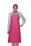 Style 240 Professional Extra Large No Pocket Bib Apron - Hot Pink
