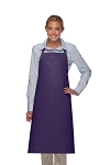 Style 240 Professional Extra Large No Pocket Bib Apron - Purple