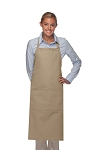Style 242 High Quality Professional Extra Coverage Two Pocket Butcher Apron - Khaki