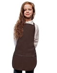 Style 250 High Quality Two Pocket Kids Bib Aprons - Brown