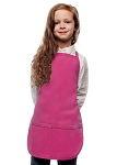 Style 250 High Quality Two Pocket Kids Bib Aprons - Hot Pink