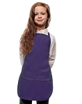Style 250 High Quality Two Pocket Kids Bib Aprons - Purple