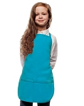 Style 250 High Quality Two Pocket Kids Bib Aprons - Turquoise