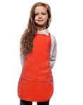 Style 250 High Quality Two Pocket Kids Bib Aprons - Orange