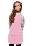 Style 250 High Quality Two Pocket Kids Bib Aprons - Pink