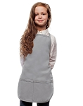 Style 250 High Quality Two Pocket Kids Bib Aprons - Silver Gray