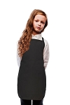 Style 250NP High Quality No Pocket Kids Bib Aprons - Black