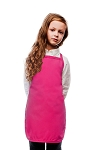 Style 250NP High Quality No Pocket Kids Bib Aprons - Hot Pink