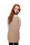 Style 250NP High Quality No Pocket Kids Bib Aprons - Khaki