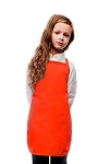 Style 250NP High Quality No Pocket Kids Bib Aprons - Orange