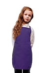 Style 250NP High Quality No Pocket Kids Bib Aprons - Purple