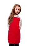 Style 250NP High Quality No Pocket Kids Bib Aprons - Red