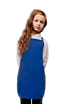 Style 250NP High Quality No Pocket Kids Bib Aprons - Royal Blue