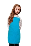Style 250NP High Quality No Pocket Kids Bib Aprons - Turquoise