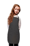 Style 250NP High Quality No Pocket Kids Bib Aprons - Charcoal Gray