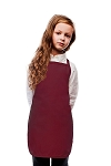 OVERSTOCK Style 250NP High Quality No Pocket Kids Bib Aprons - Maroon