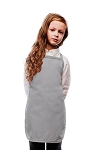 Style 250NP High Quality No Pocket Kids Bib Aprons - Silver Gray