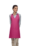 Style 300 High Quality Professional Two Pocket V-Neck Tuxedo Apron - Hot Pink