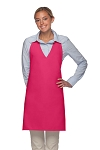 Style 300NP High Quality Professional V-Neck Tuxedo Apron - Hot Pink