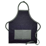 NEW! Two Pocket Two Tone Multi Color Denim Bib Apron