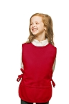 Style 450 High Quality Two Pocket Kids Cobbler Apron - Red