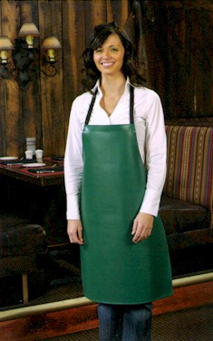 Style 6210 Professional Vinyl Dishwasher's Bib Aprons - Hunter Green