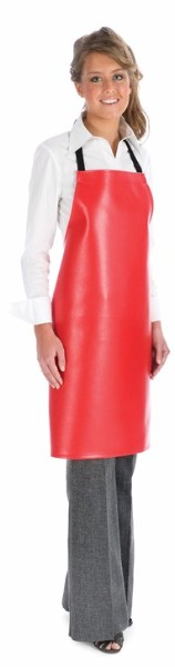 Style 6210 Professional Vinyl Dishwasher's Bib Aprons -- RED