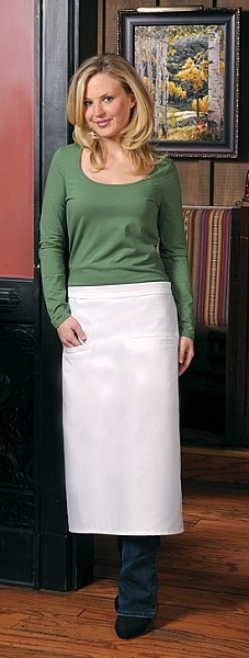 Style 120-2I Professional Double Inset Pocket Full Length Bistro Apron